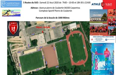 Challenge running Ligue Région Sud le 22-08 à Carpentras